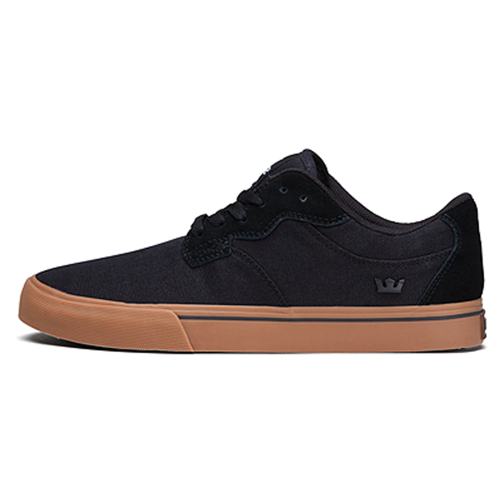 supra skytop black gum mens shoe free shipping within canada