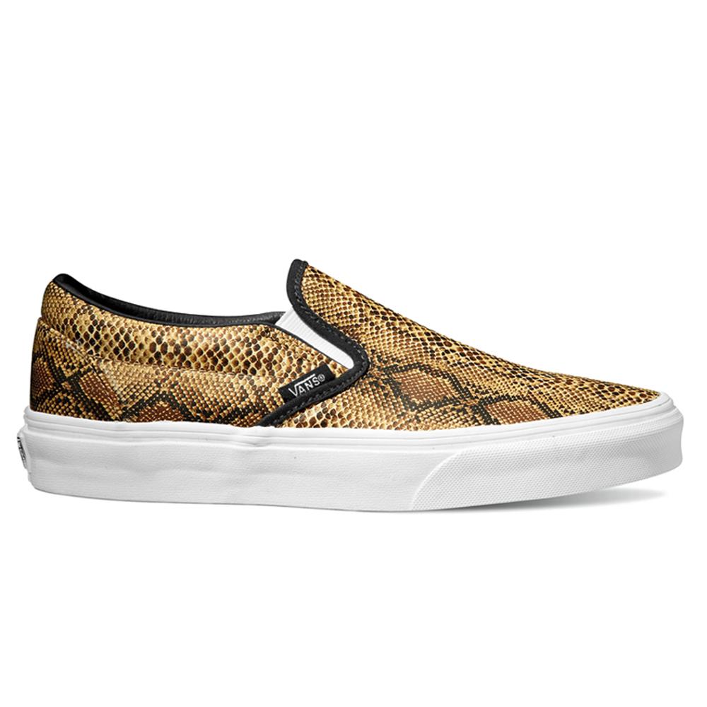 vans vn 0xg8eno u classic slip on leather snake silver shoe free. Black Bedroom Furniture Sets. Home Design Ideas